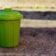 green bin on gravel