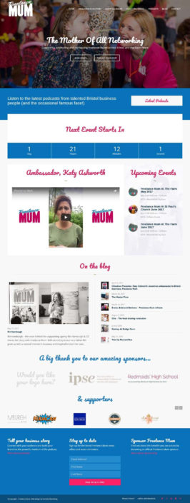 Freelance Mum website design